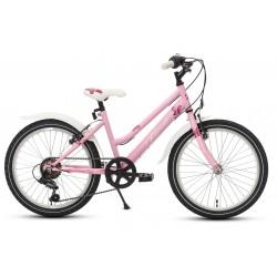 Rower 20 KANDS DORIS Tourney 6 bieg różowy mat
