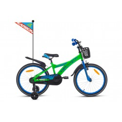 Rower 20 KARBON ALVIN zielono-niebieski