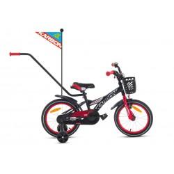 Rower 16 KARBON ALVIN czarno-czerwony