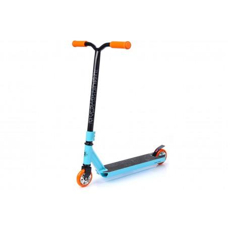 Hulajnoga METEOR TRIPLE stunt ABEC7 100kg niebiesko-pomarańczowa