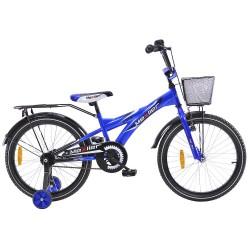Rower 20 MEXLLER BMX niebiesko-czarny + koszyk 16r.