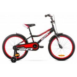 Rower 20 ROMET TOM czarno-czerwony