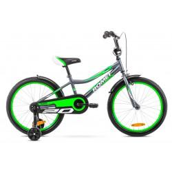 Rower 20 ROMET TOM grafitowo-zielony