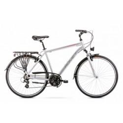 Rower 28 ROMET WAGANT 1 srebrno-czerwony