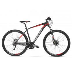 """Rower 27,5 KROSS LEVEL 3.0 męski M 18"""" czarno-czerwono-biały poł. 2020"""
