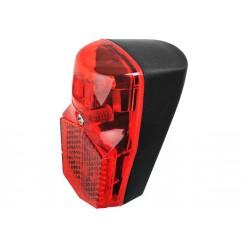 Lampa tylna na błotnik LED + odblask dynamo z podtrzymaniem