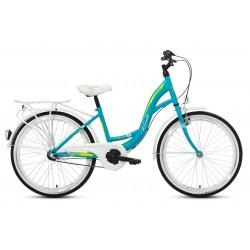 Rower 24 KANDS VITTORIA stal. 3 NEXUS niebiesko-biały poł.