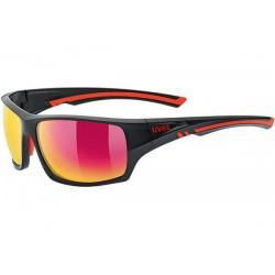 Okulary UVEX SPORTSTYLE 222 polaryzacja - czarno-czerwone