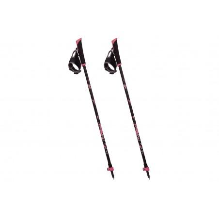 Kije trekkignowe VIKING ELIN Nordic Walking 85-135cm czarno-różowe
