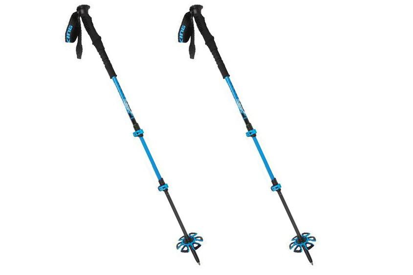 Kije trekkingowe VIKING Vario Tour 65-135cm czarno-niebieskie