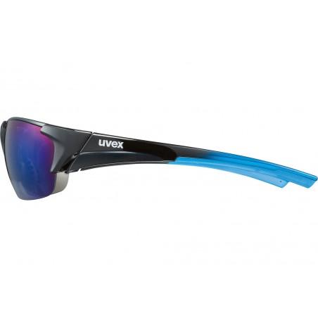 Okulary UVEX BLAZE III 2.0 3 pary soczewek - czarno-niebieskie