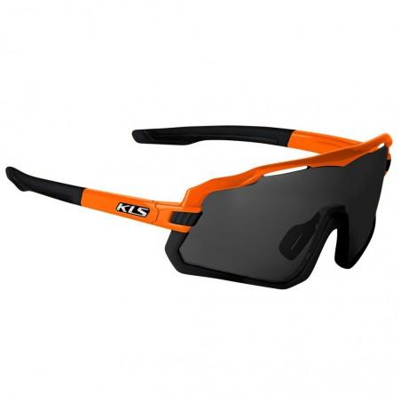 Okulary rowerowe KELLYS CYCLONE FF, Vibrant Yellow, szkło ciemne S3 + przydymiane S1 + etui