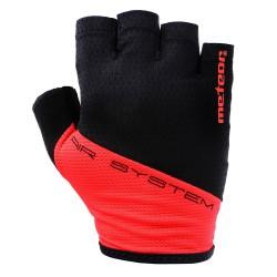 Rękawiczki rowerowe METEOR GX130 GEL M czarno-czerwone