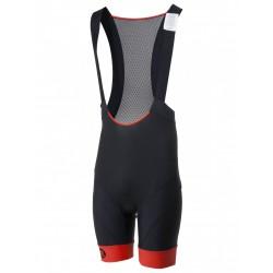 Spodenki kolarskie ROGELLI RAPID z szelkami + wkładka żel, XL czarno-czerwone
