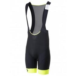 Spodenki kolarskie ROGELLI RAPID z szelkami + wkładka żel, XL czarno-żółte