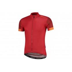Koszulka ROGELLI BOLT full zip, kr.r, XL czerwona