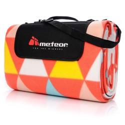 Koc piknikowy METEOR 200x200 pomarańczowo-biał-żółty trójkąty