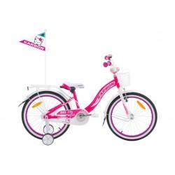 Rower 20 KARBON KITTY różowo-biały