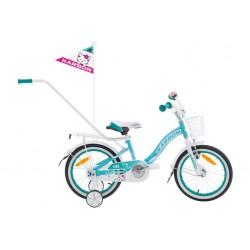 Rower 16 KARBON KITTY turkusowo-biały