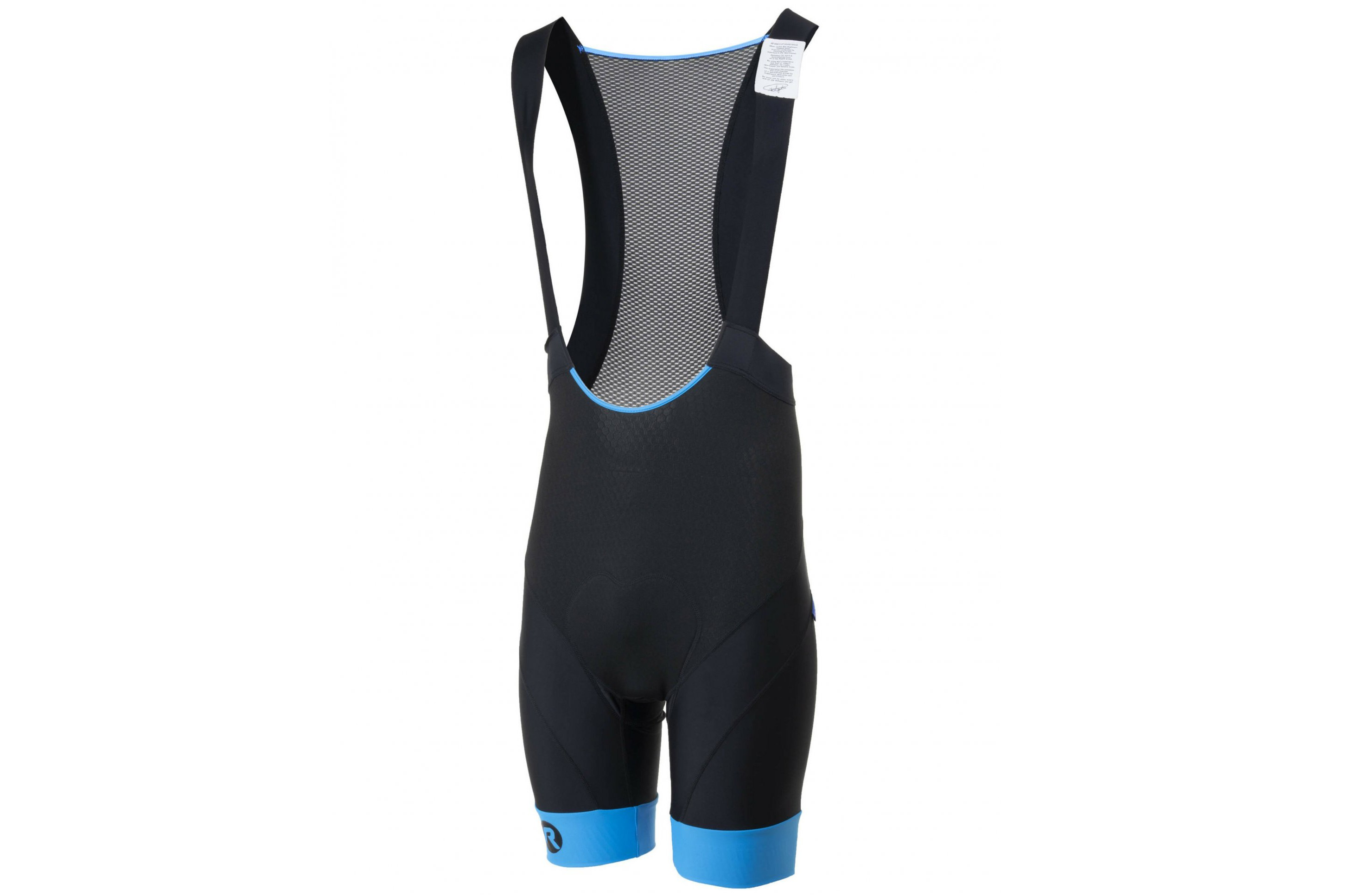Spodenki kolarskie ROGELLI RAPID z szelkami + wkładka żel, L czarno-niebieskie