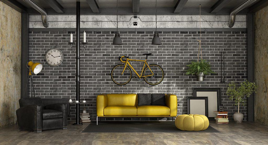Rower zawieszony na ścianie